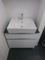 洗面化粧台 小型電気温水器取替工事 千葉県松戸市 LU755CSD-10-BW1