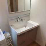 洗面化粧台取替工事 千葉県鎌ケ谷市
